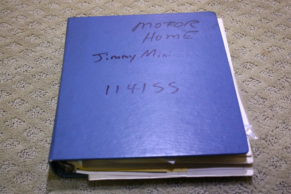 USED 1978 JIMMY MINI OWNERS MANUAL BINDER FOR SALE RV Accessories