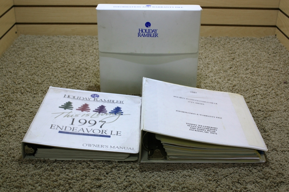 USED 1997 HOLIDAY RAMBLER ENDEAVOR OWNERS MANUAL FOR SALE RV Accessories