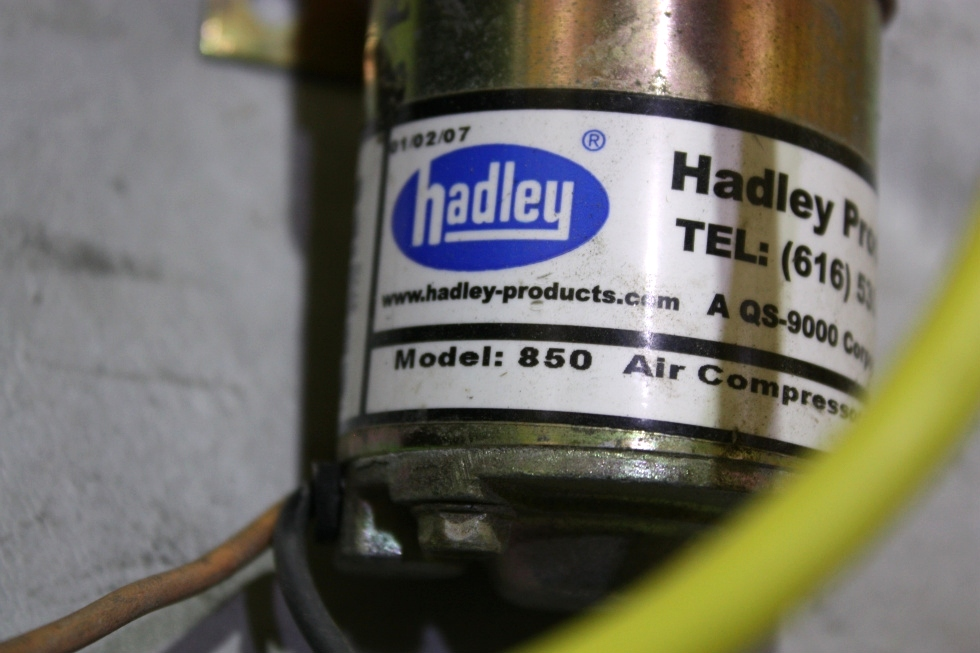 RV Accessories USED RV HADLEY AIR COMPRESSOR MODEL 850 WITH ... on