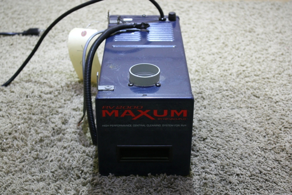 USED MAXUM RV2000 CENTRAL CLEANING SYSTEM FOR RV'S FOR SALE RV Accessories
