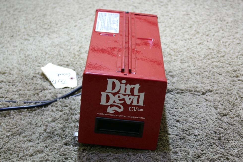 USED DIRT DEVIL CV950 HIGH PERFORMANCE CENTRAL CLEANING SYSTEM RV PARTS FOR SALE RV Accessories