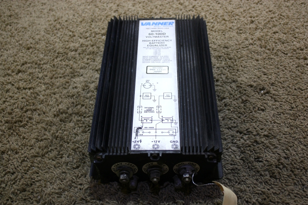 USED MOTORHOME VANNER BATTERY EQUALIZER MODEL: 60-100D FOR SALE RV Accessories
