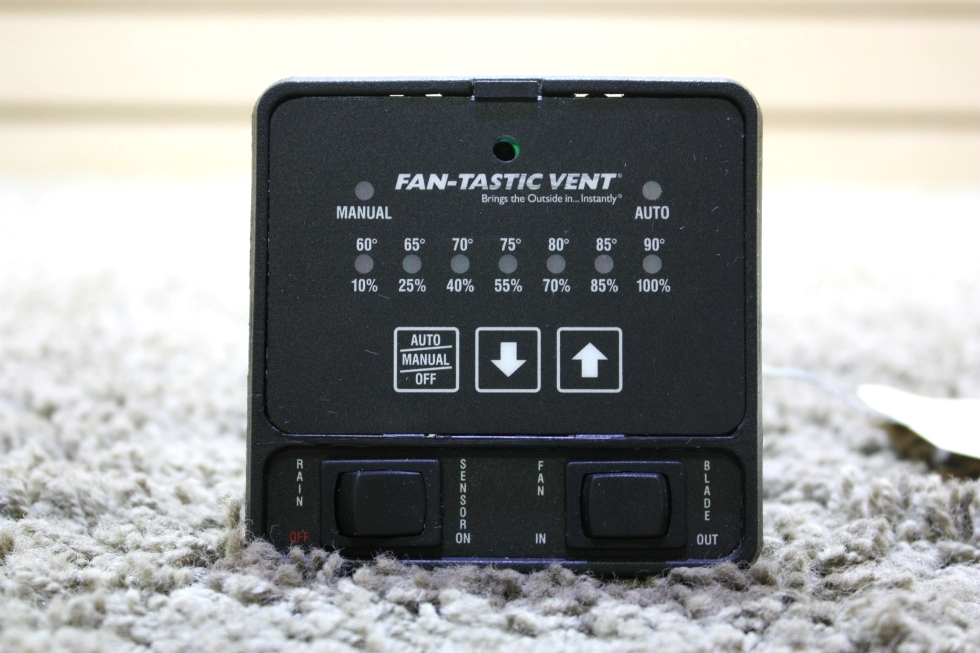 USED MOTORHOME FAN-TASTIC VENT SWITCH PANEL FOR SALE RV Accessories