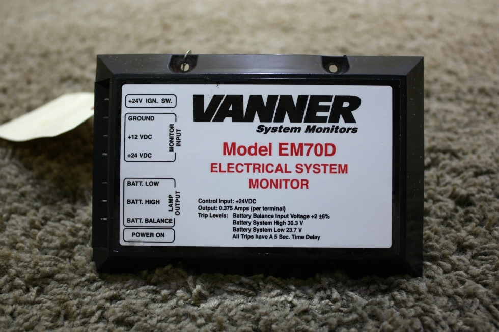 USED RV VANNER ELECTRICAL SYSTEM MONITOR EM70D FOR SALE RV Accessories