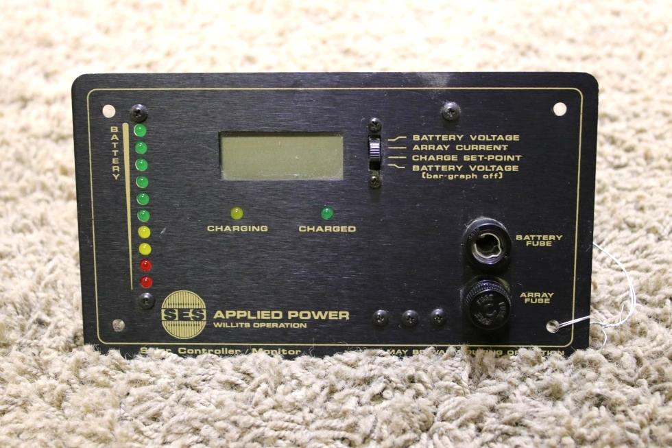USED MOTORHOME SES APPLIED POWER SOLAR CONTROLLER/MONITOR PANEL FOR SALE RV Accessories