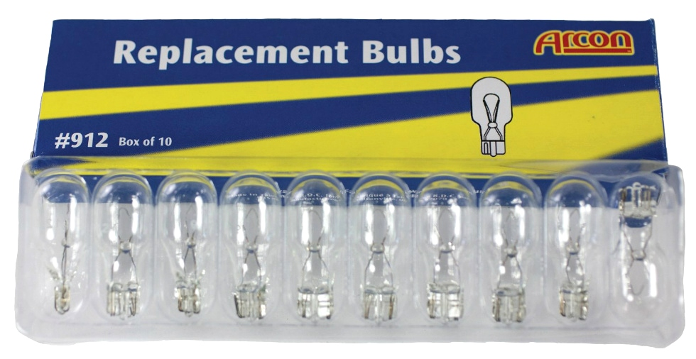 NEW RV/MOTORHOME REPLACEMENT BULB #912 (10 Pack) RV Accessories