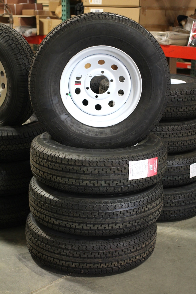 NEW/OLD STOCK MASTERTRACK TIRES & RIMS TIRES SIZE: 235/80R16 E Towing Products