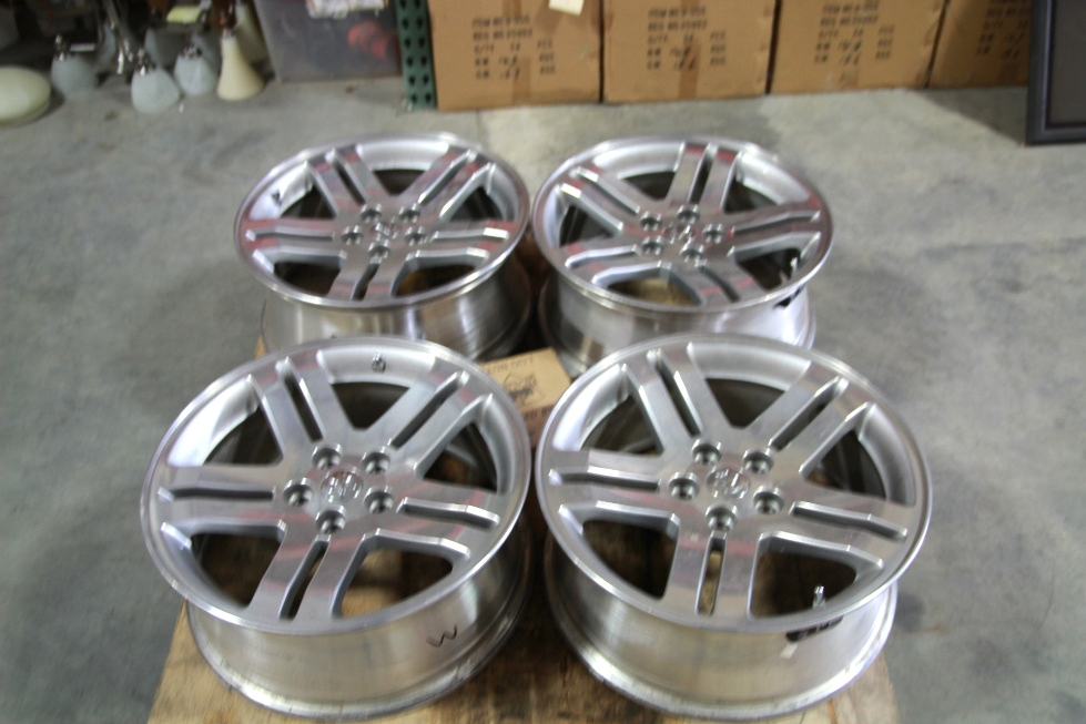 SET OF 4 USED CHRYSLER DODGE CHARGER 5 LUG WHEELS | INCLUDES LUG NUTS & CENTER CAPS Towing Products