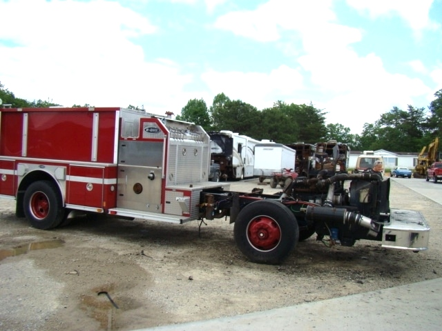 2001 E-ONE PUMPER FIRE TRUCK SPARTAN CHASSIS FOR SALE  RV Parts