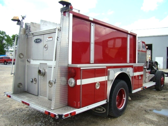 RV Parts 2001 E-ONE PUMPER FIRE TRUCK SPARTAN CHASSIS FOR SALE Work