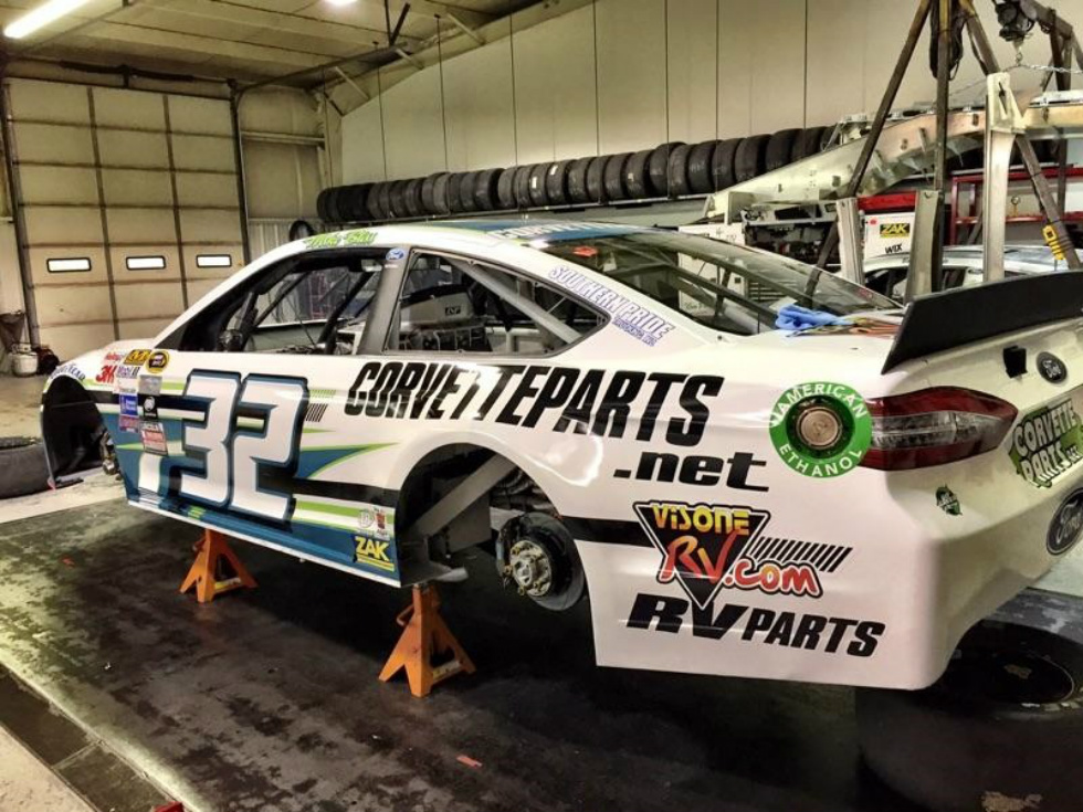 Bristol Motor Speedway Visone RV Sponsors Mike Bliss # 32 Go Green Racing RV Parts