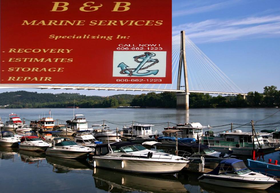 BOAT DAMAGE LAKE CUMBERLAND - B & B MARINE SERVICE BOAT TRANSPORTATION RV Parts